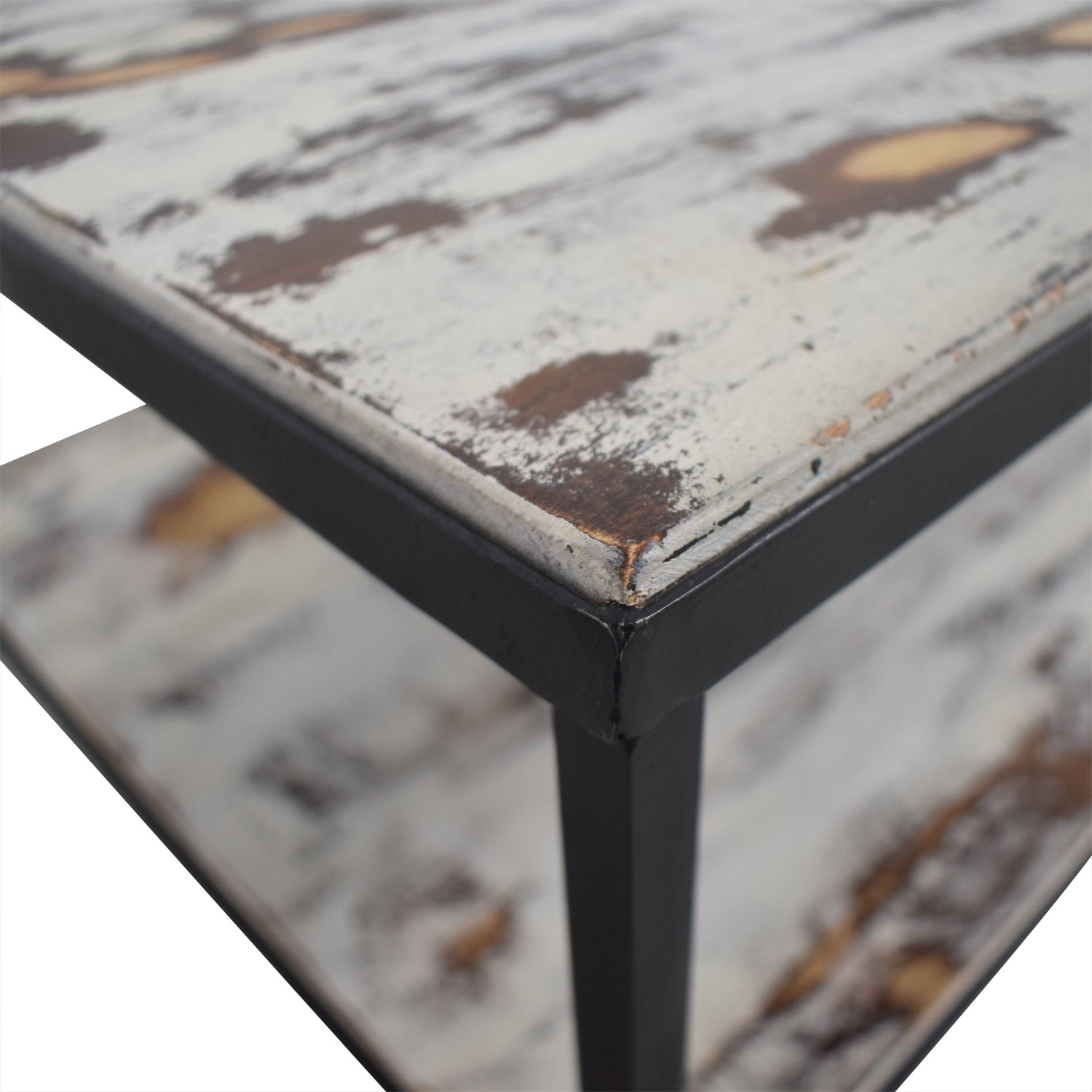61 off rustic distressed wood coffee table tables
