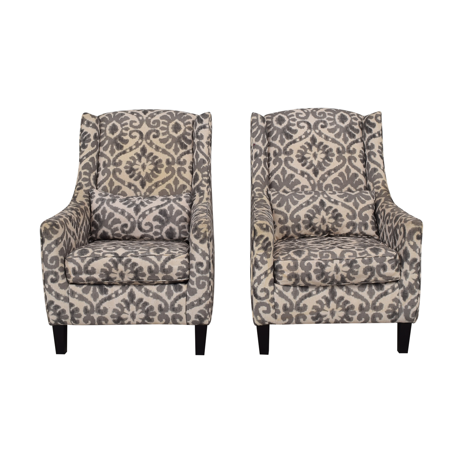Ashley Chairs 87 Off Ashley Furniture Ashley Furniture Grey And White Accent Chairs Chairs