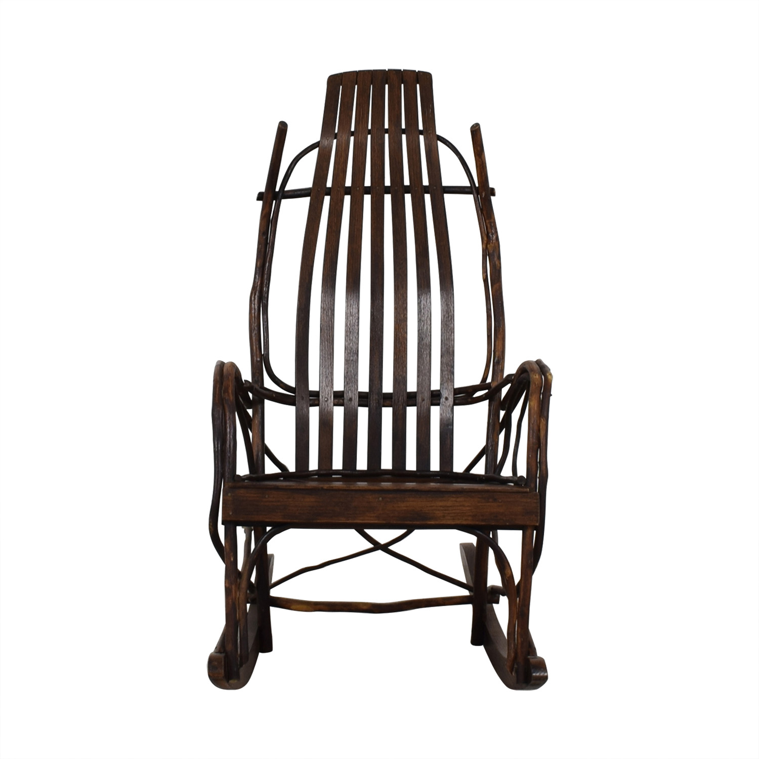 80 OFF  Amish Wood Rocking Chair  Chairs