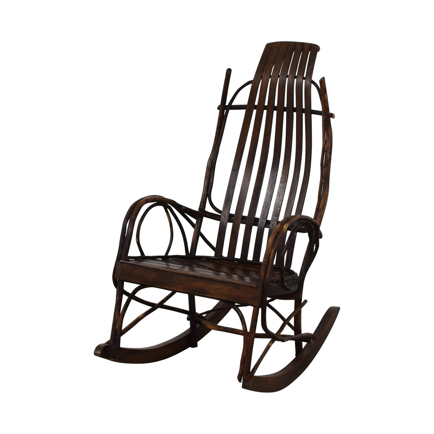 Amish Rocking Chair 80 Off Amish Wood Rocking Chair Chairs