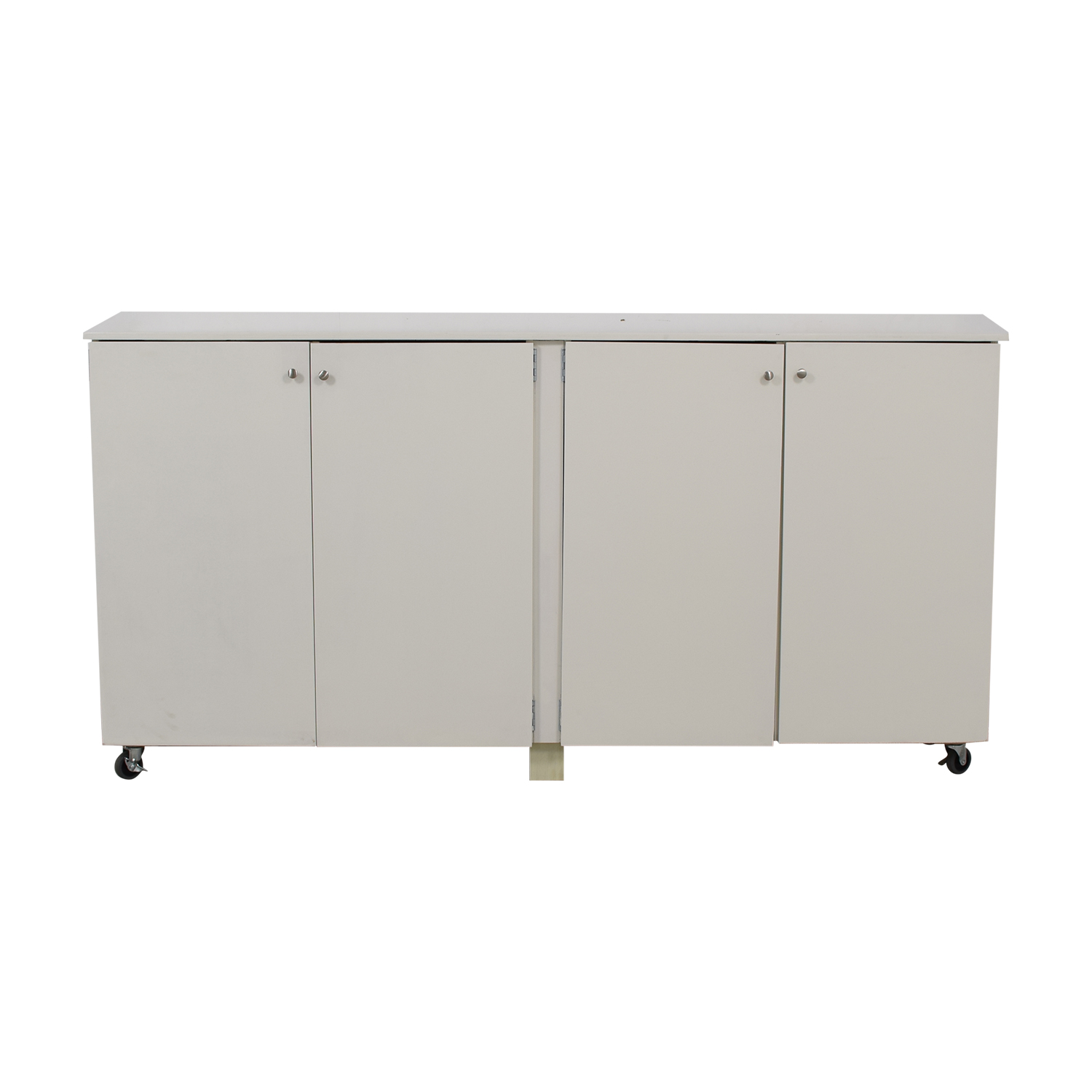 90 OFF  Custom White Cabinet Wardrobe with Hanging Rod