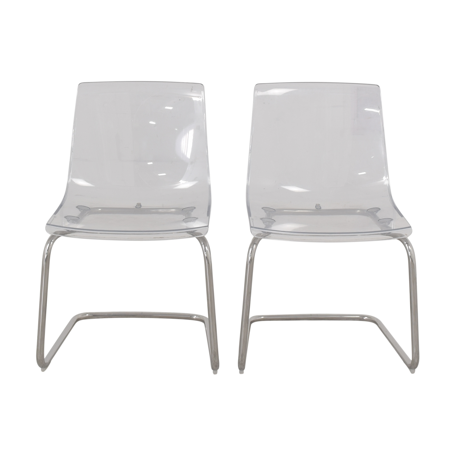 Lucite Chair 79 Off Ikea Ikea Tobias Chrome And Lucite Chairs Chairs
