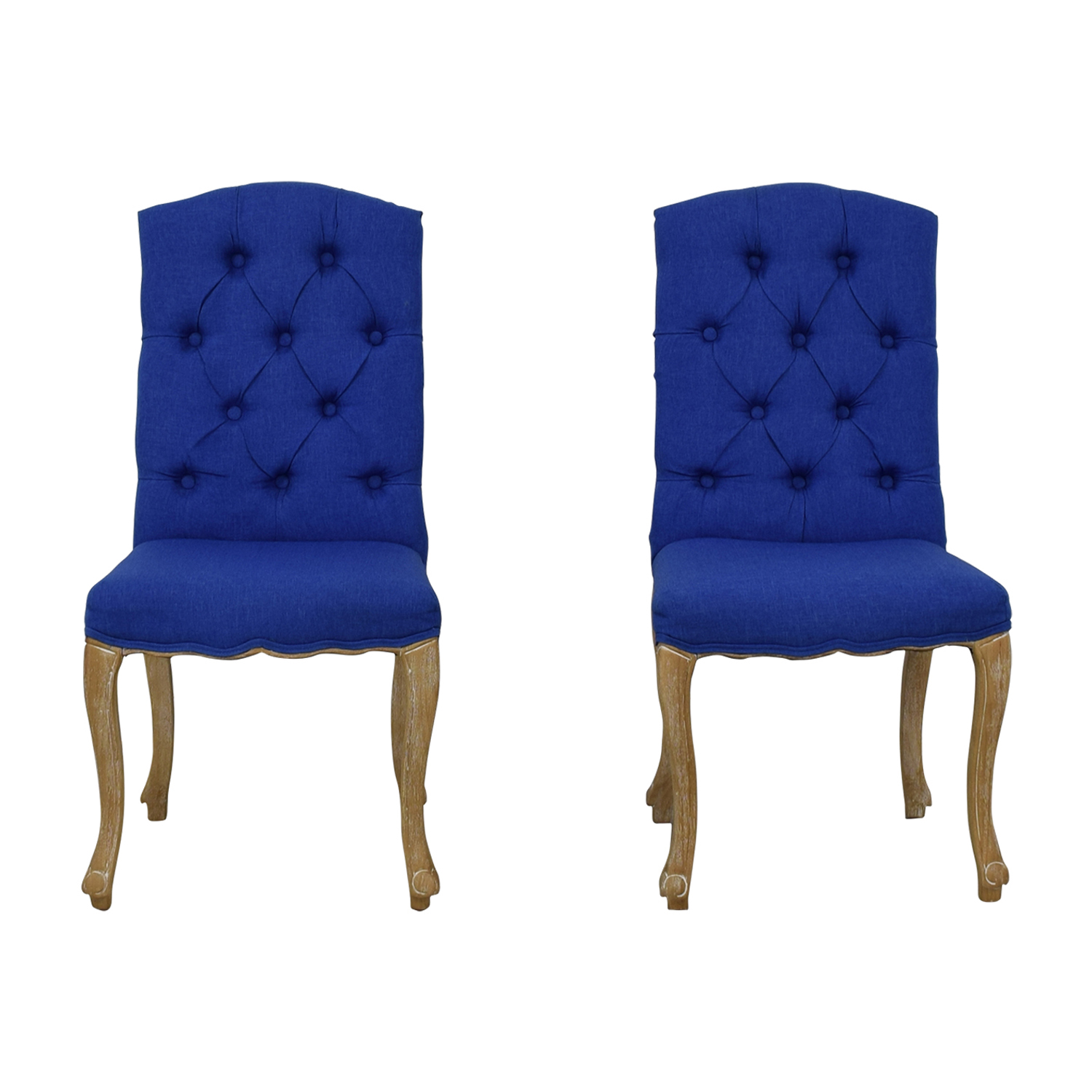 Royal Blue Chair 73 Off Royal Blue Tufted Back Dining Chairs Chairs