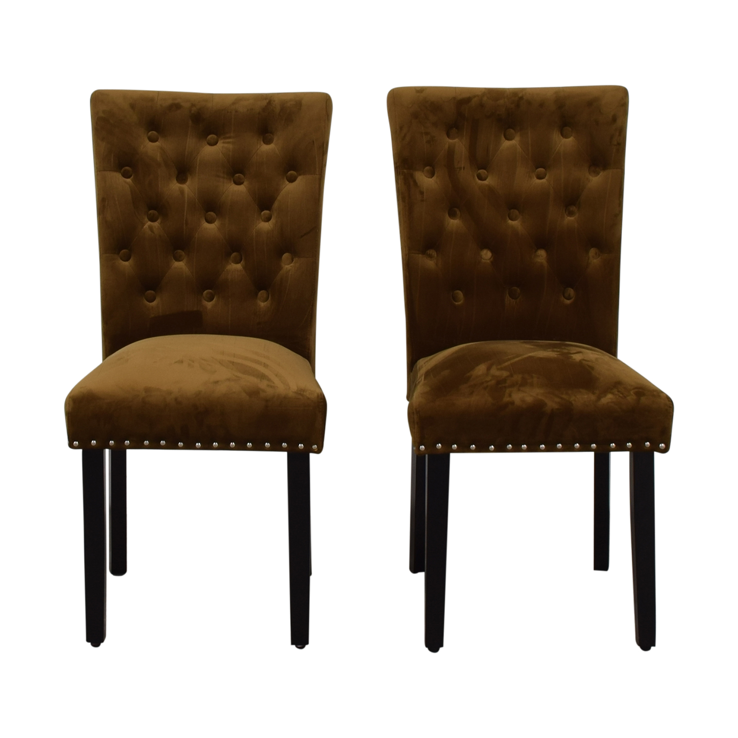 Copper Dining Chairs 88 Off House Of Hampton House Of Hampton Tufted Copper Brown Dining Chairs Chairs