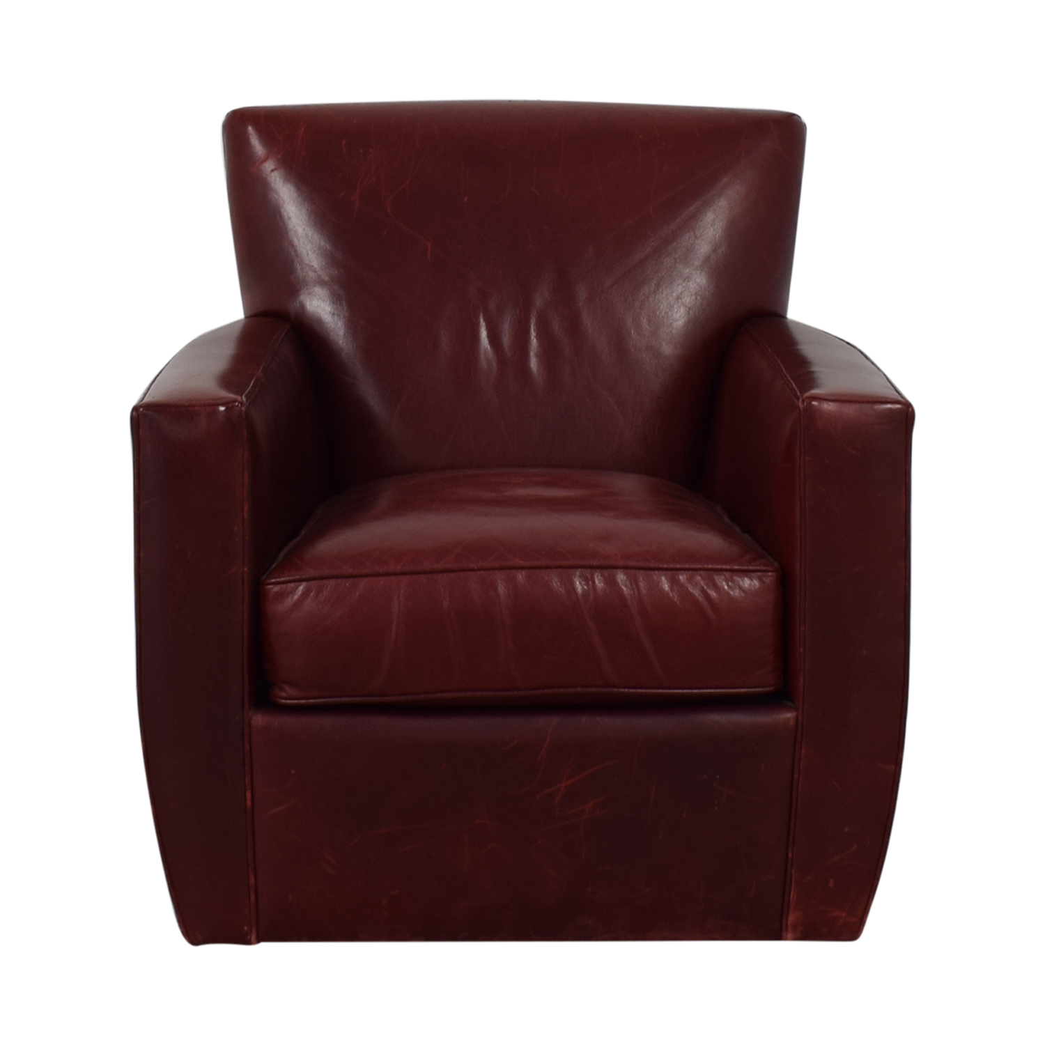 84 Off Crate Barrel Crate Barrel Swivel Red Accent Chair Chairs