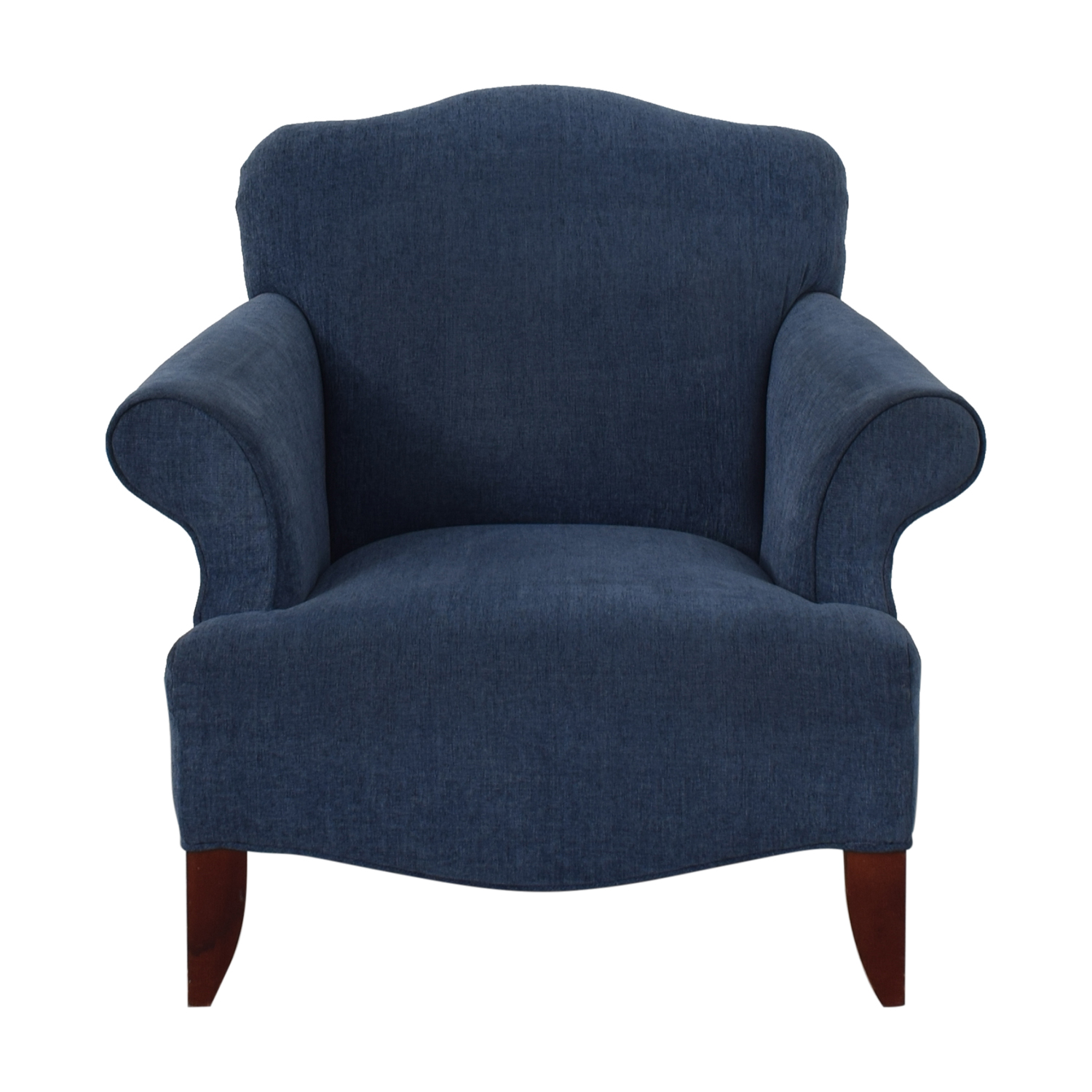 Upholstered Arm Chairs 87 Off Blue Upholstered Arm Chair Chairs