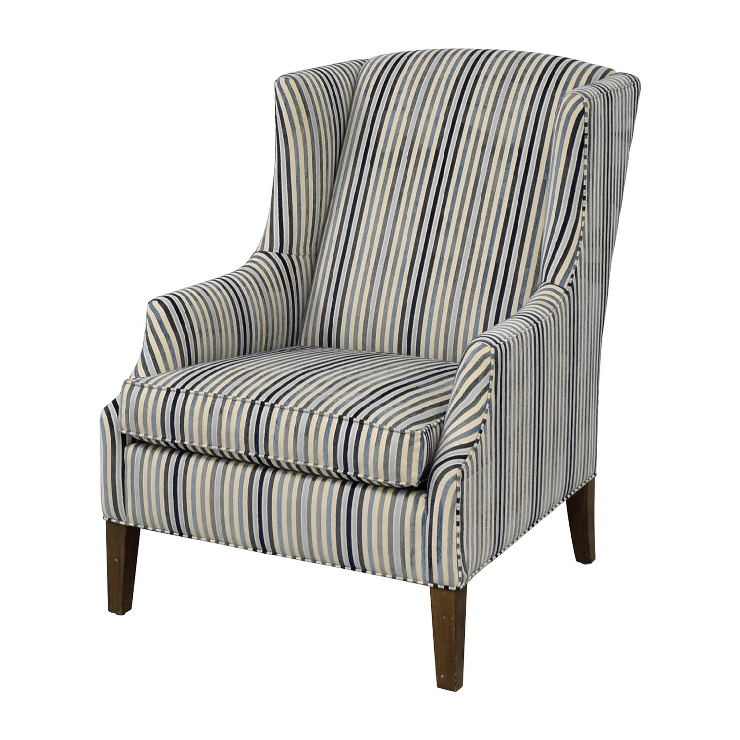 Ethan Allen Club Chairs 84 Off Ethan Allen Ethan Allen Custom Upholstered Striped Accent Chair Chairs