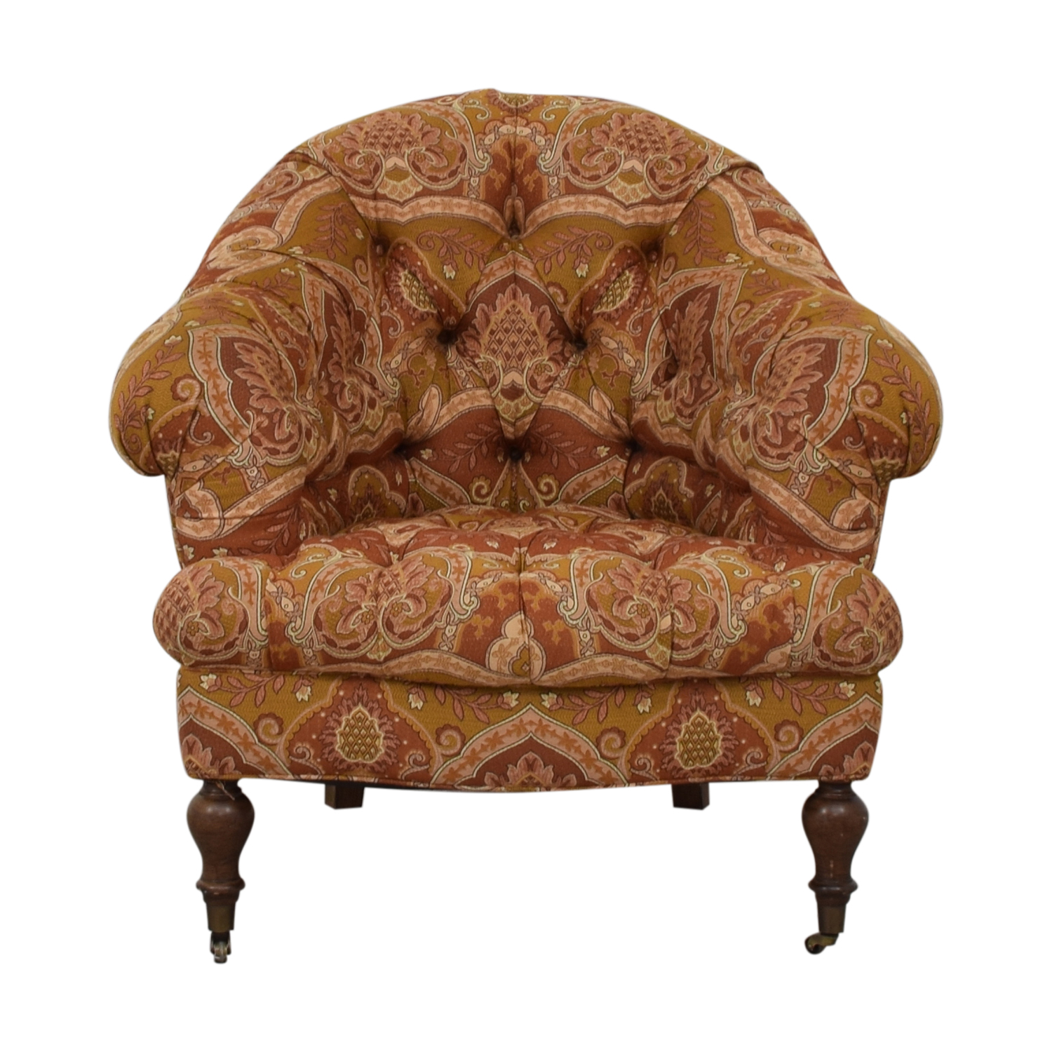 Paisley Chair 65 Off Paisley Floral Upholstered Accent Chair With Castors Chairs