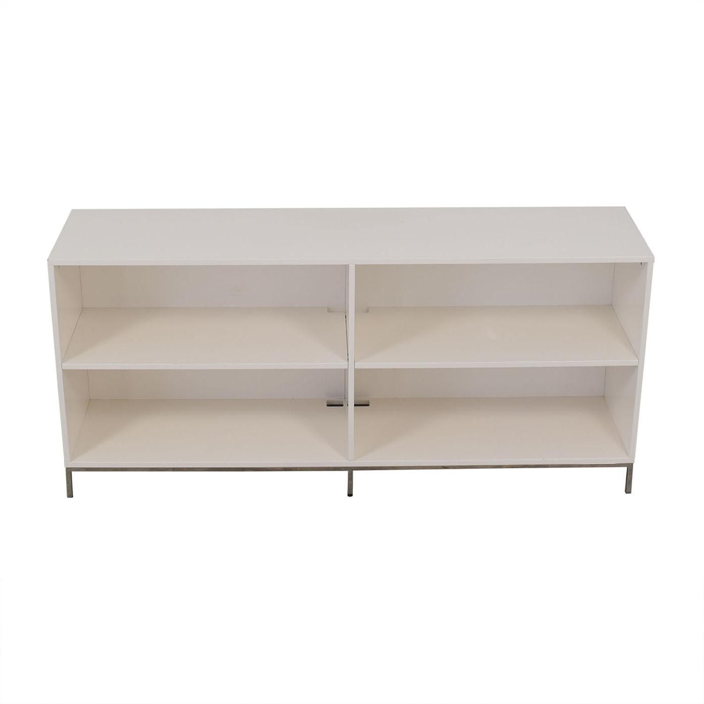 64 Off West Elm West Elm White Lacquer Storage Bookcase