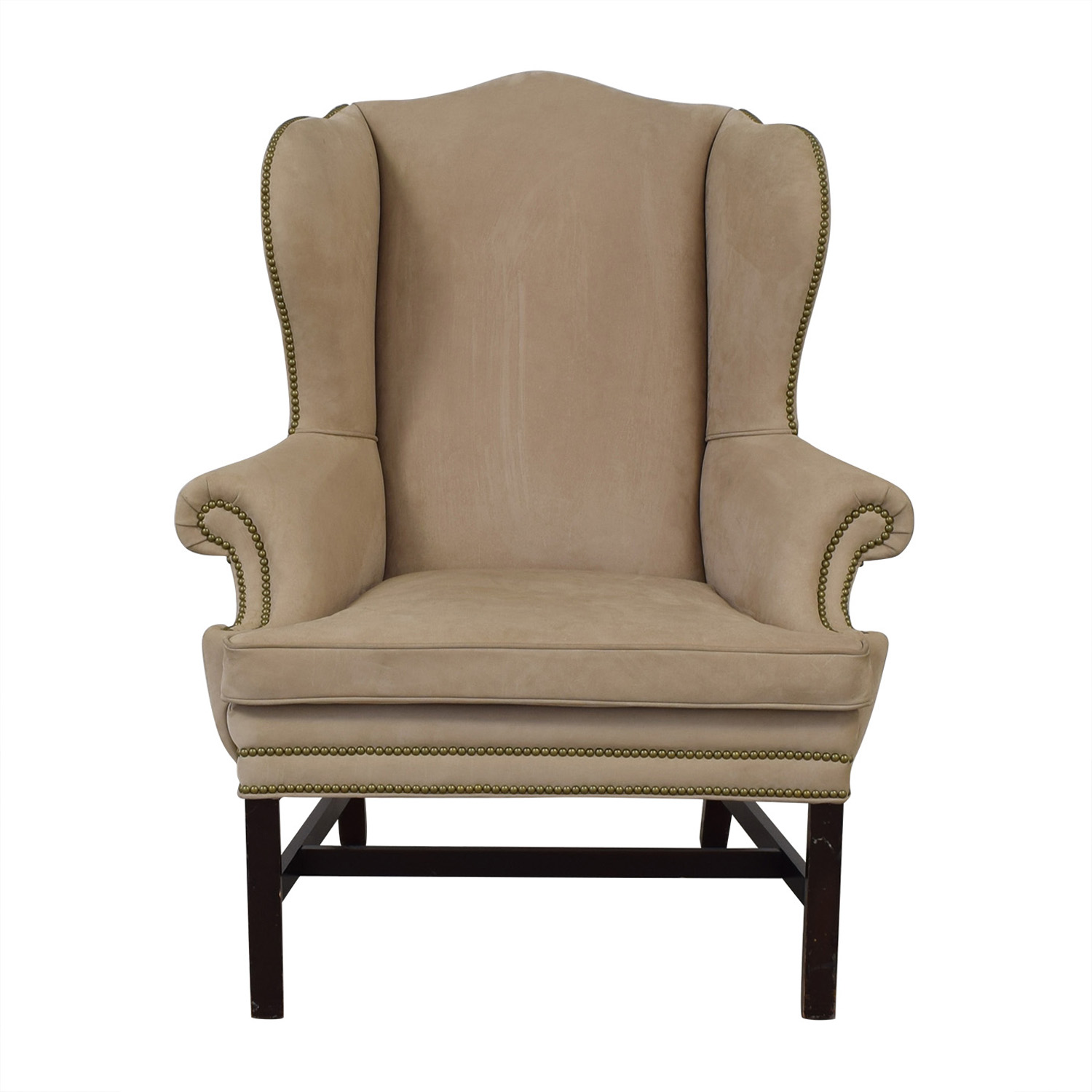Wing Back Chairs 79 Off Ralph Lauren Home Ralph Lauren Home Beige Nailhead Wingback Chair Chairs