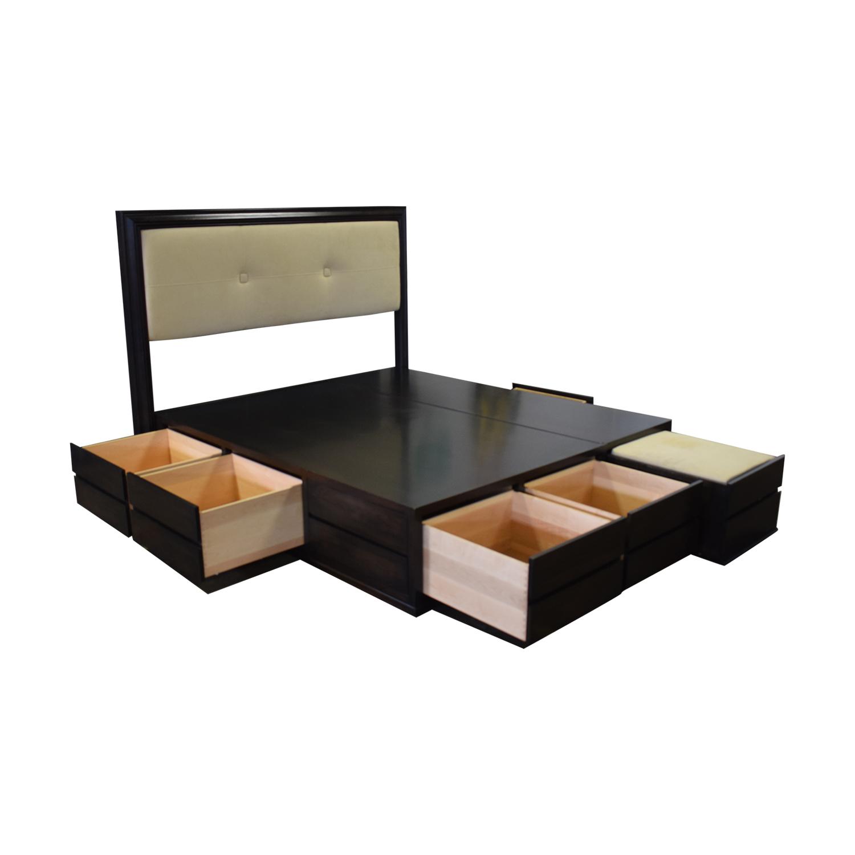 84 Off Couture Design Cal King Platform Storage Bed Beds