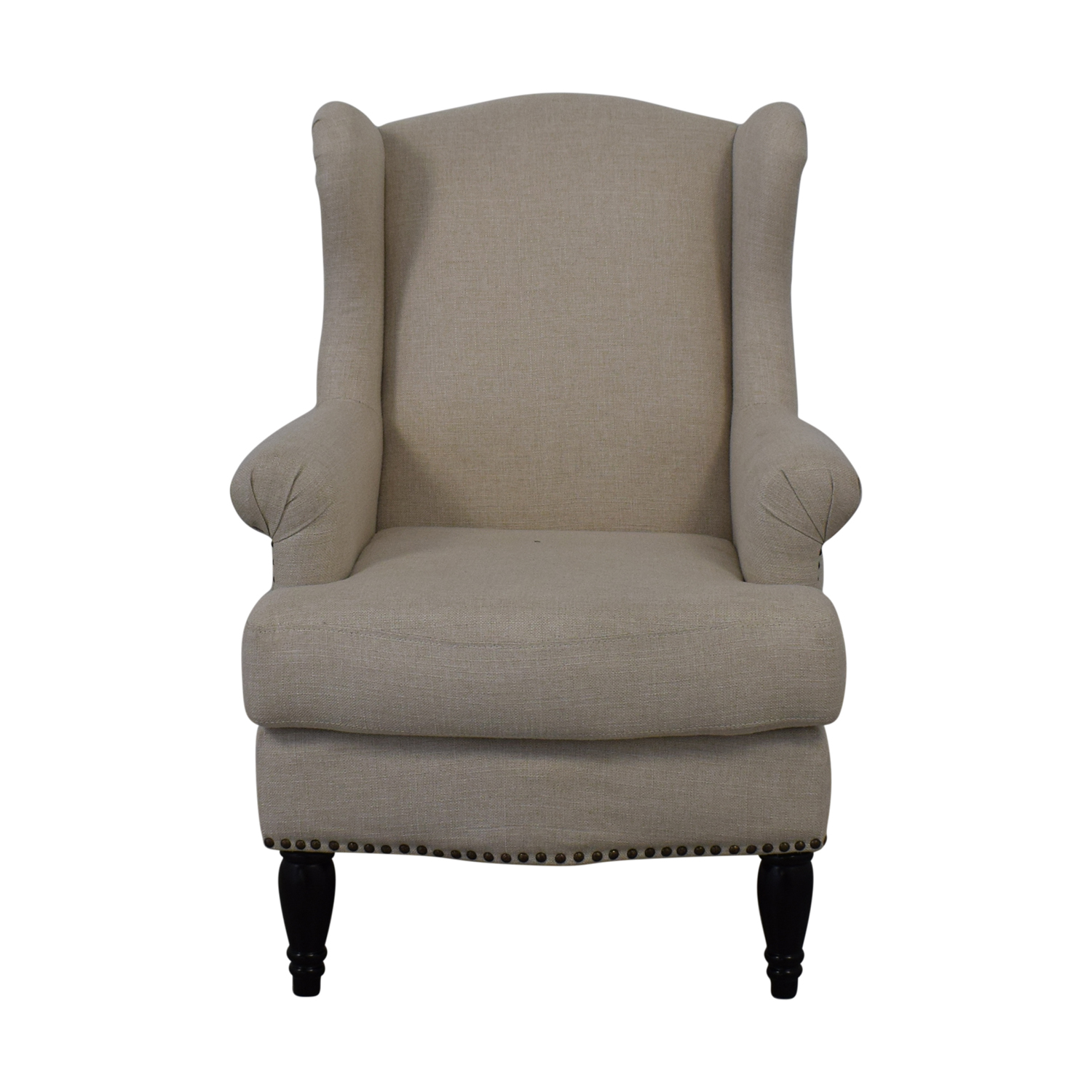 Used Wingback Chairs 76 Off Pottery Barn Pottery Barn Soma Delancey Upholstered Wingback Armchair Chairs