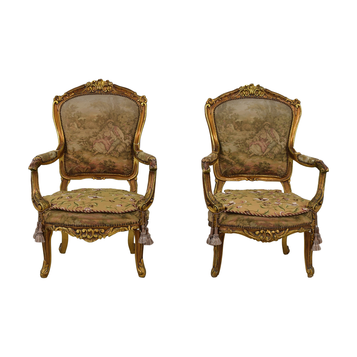 Antique Accent Chairs 79 Off Distressed Antique Louis Xv Accent Chairs Chairs