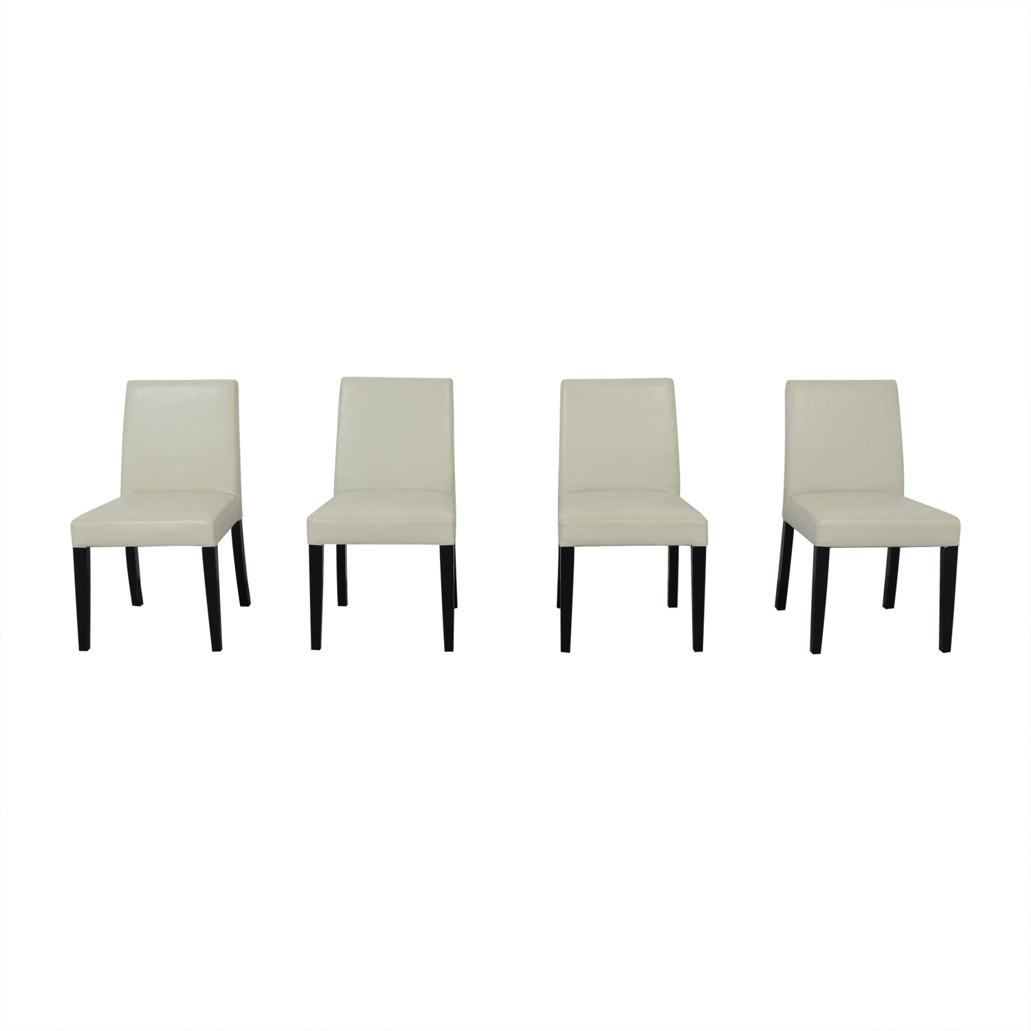 Beige Leather Dining Chairs 66 Off Crate Barrel Crate Barrel White Leather Dining Chairs Chairs