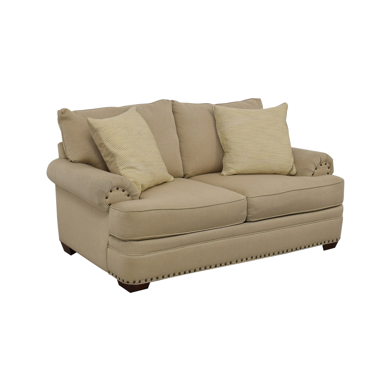 48 OFF  Havertys Havertys Oatmeal Jillian Loveseat  Sofas