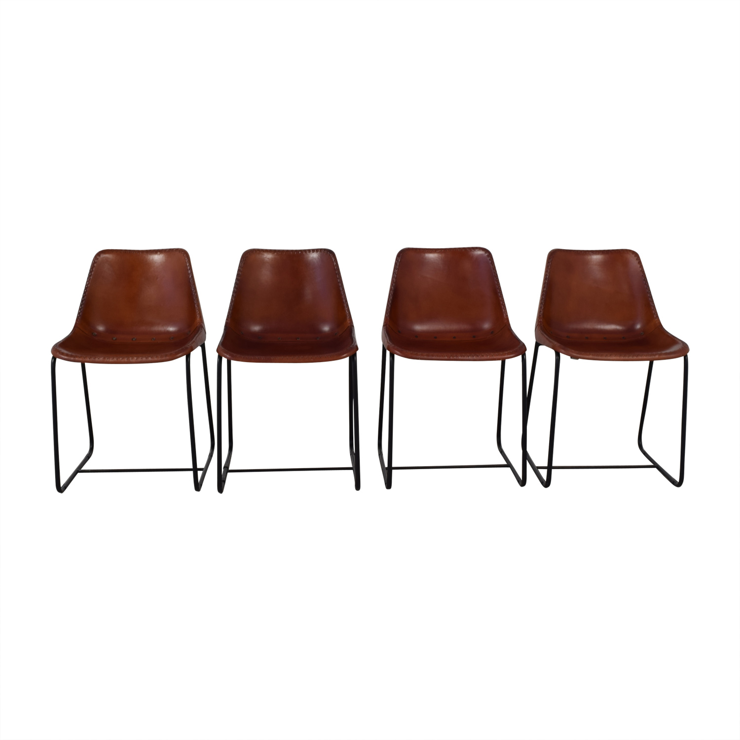 Superieur 54 Off Cb2 Cb2 Roadhouse Leather Chairs Chairs