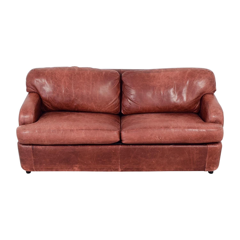 76 Off Leather Sleeper Sofa Sofas