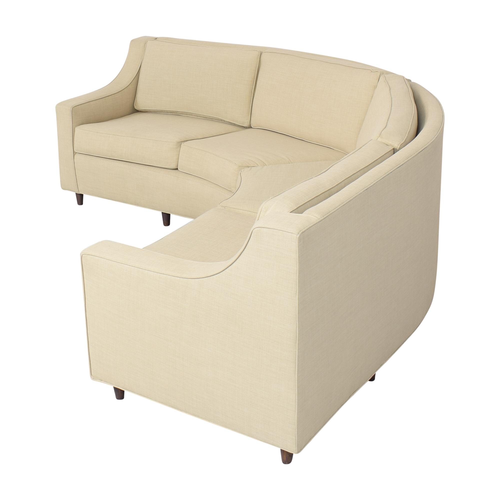 89 off stonebrook interiors stonebrook interiors mid century curved sectional sofa sofas