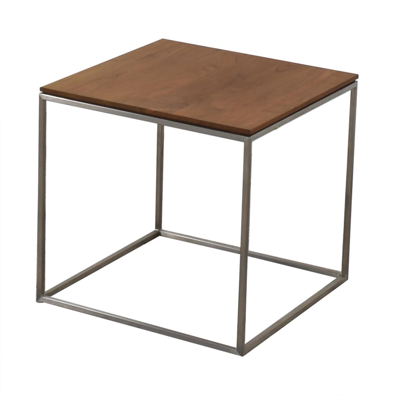 62 off crate barrel crate barrel frame square side table tables