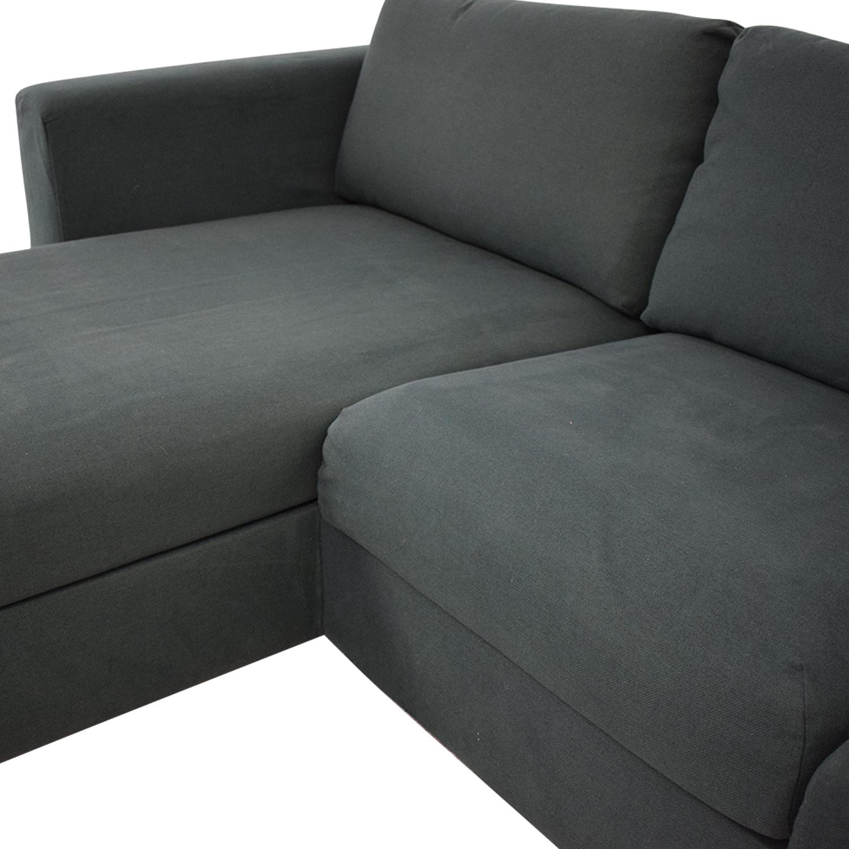 44 Off Ikea Ikea Storage Chaise Sectional Sofa Sofas