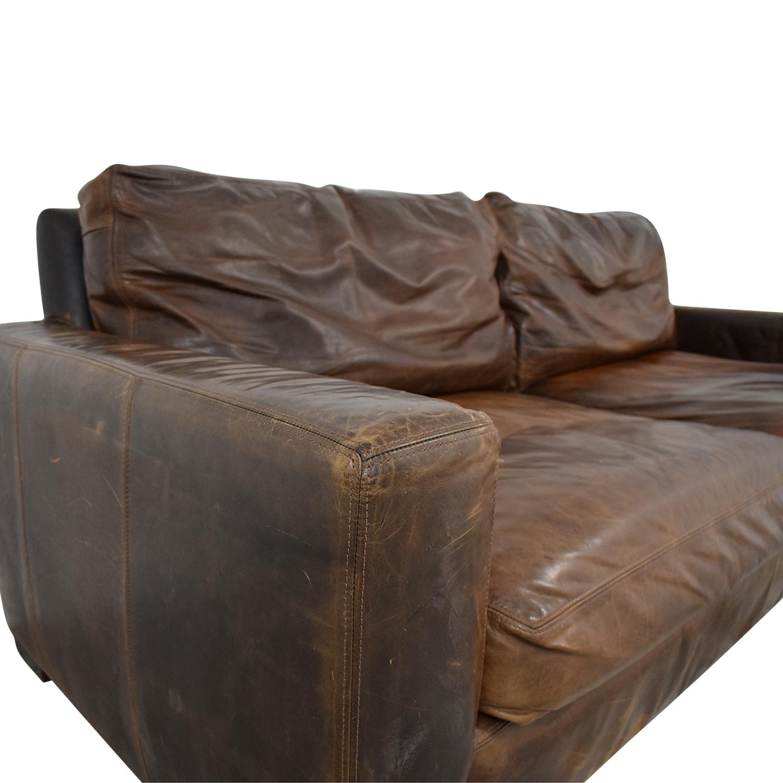76 off restoration hardware restoration hardware maxwell leather sofa sofas