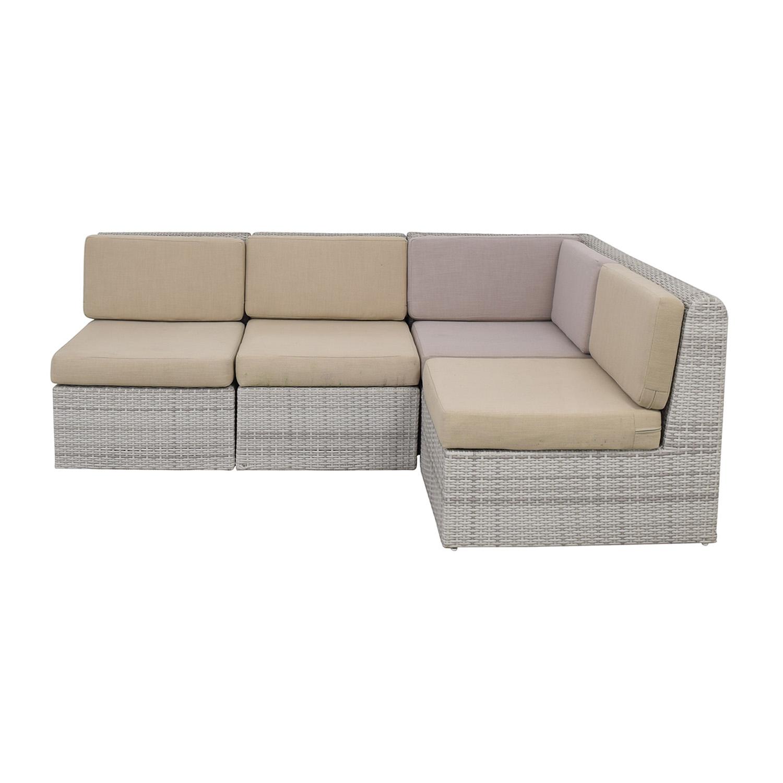60 off cb2 cb2 ebb outdoor sectional sofa sofas