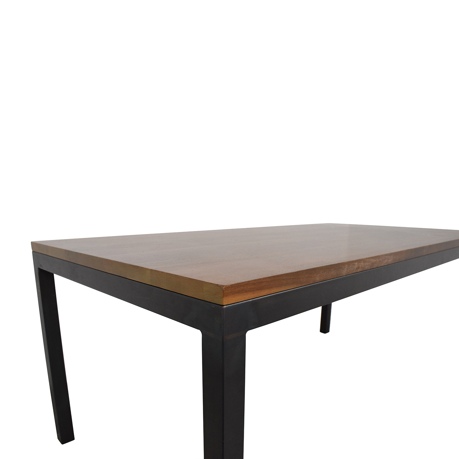 61 off room board room board walnut parsons table with natural steel tables