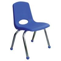 """Classic Chrome Chair 16"""" - Blue"""