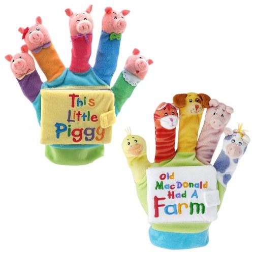 hand puppet book set
