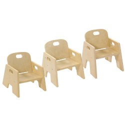 wooden chair with arms for toddler ergonomic humanscale chairs from kaplan early learning company stacking set of 2