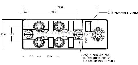 Turck Banner TB-4M8M-3P2-FS 8 TURCK SPLITTER BOX, RKC 8.6T