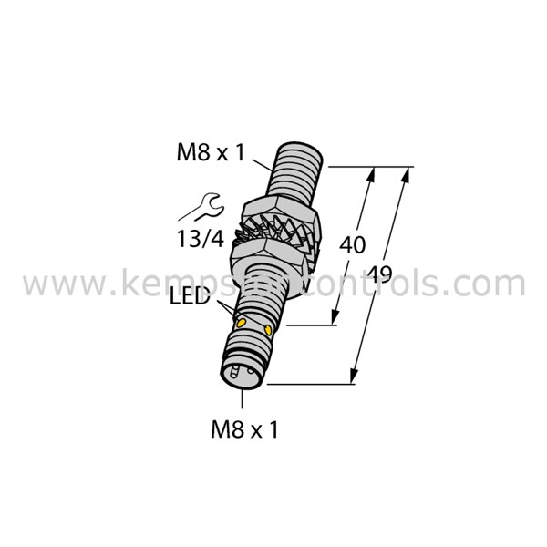 Turck Banner BI1.5-EG08-AP6X-V1131 TURCK INDUCTIVE SENSOR
