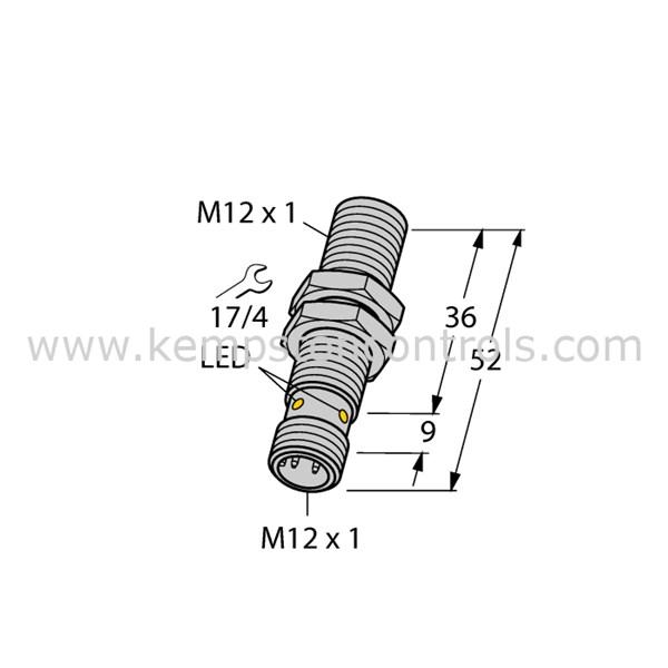 Turck Banner BI4U-M12-AP6X-H1141 TURCK BANNER INDUCTIVE