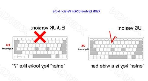 XSKN Hebrew Black Color Silicone Keyboard Skin C