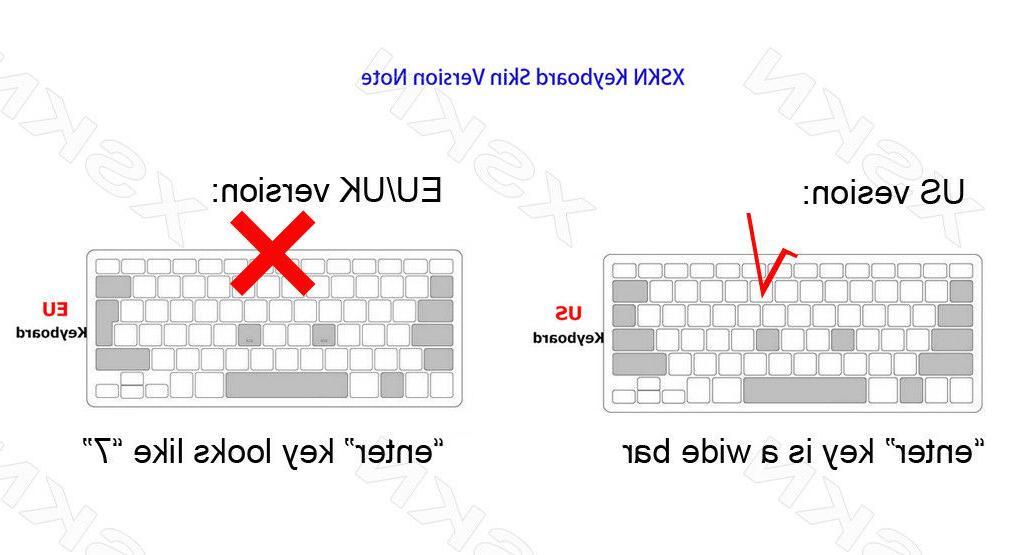 XSKN Mac OS X Shortcut Keyboard Cover Dust-Pro