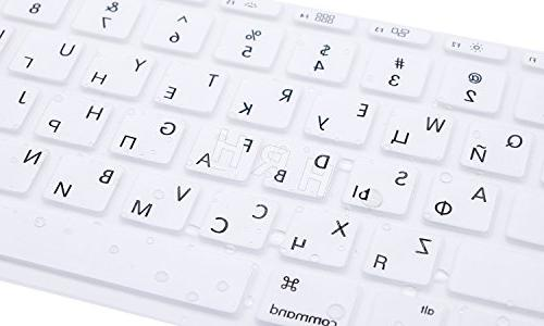 HRH Russian Letter Keyboard Cover Protector for MacBook