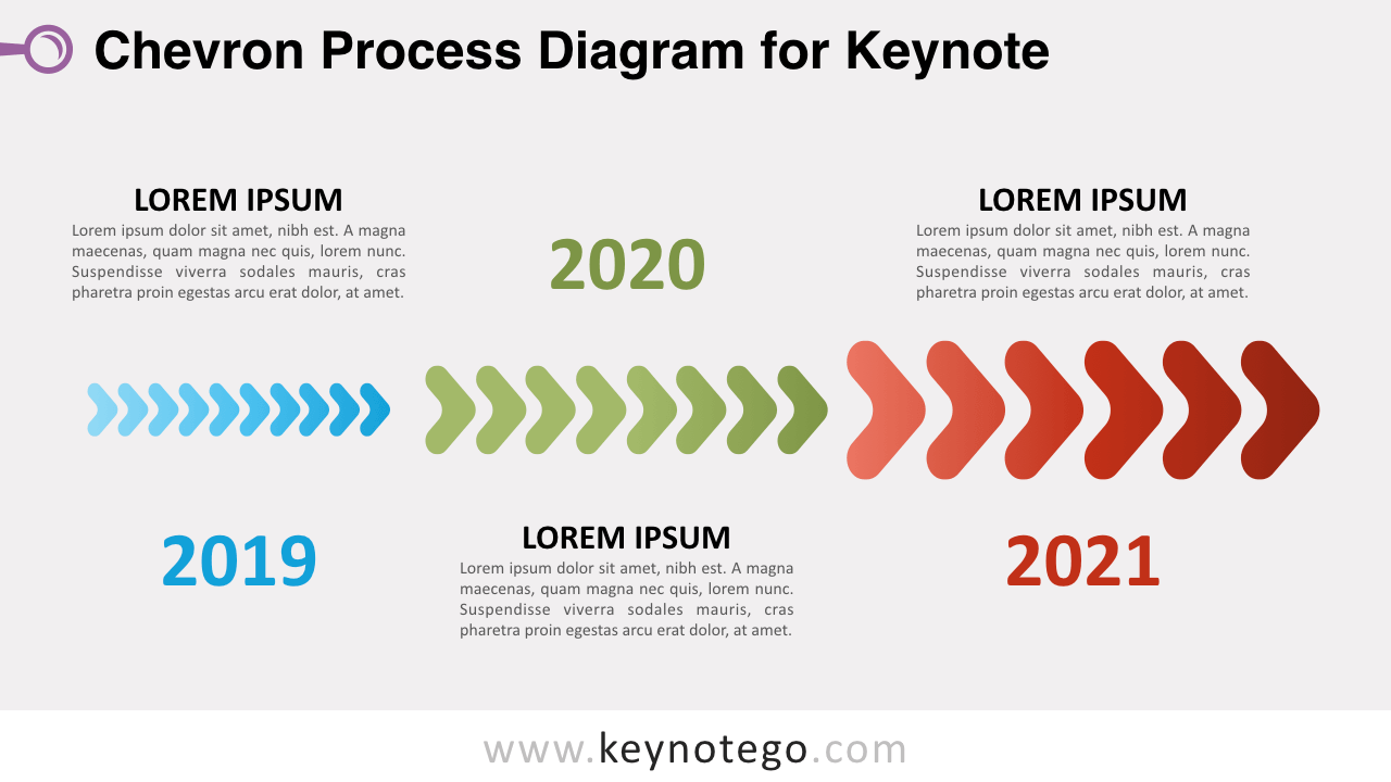 hight resolution of chevron process keynote template