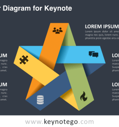 folded star keynote template dark background [ 1280 x 720 Pixel ]