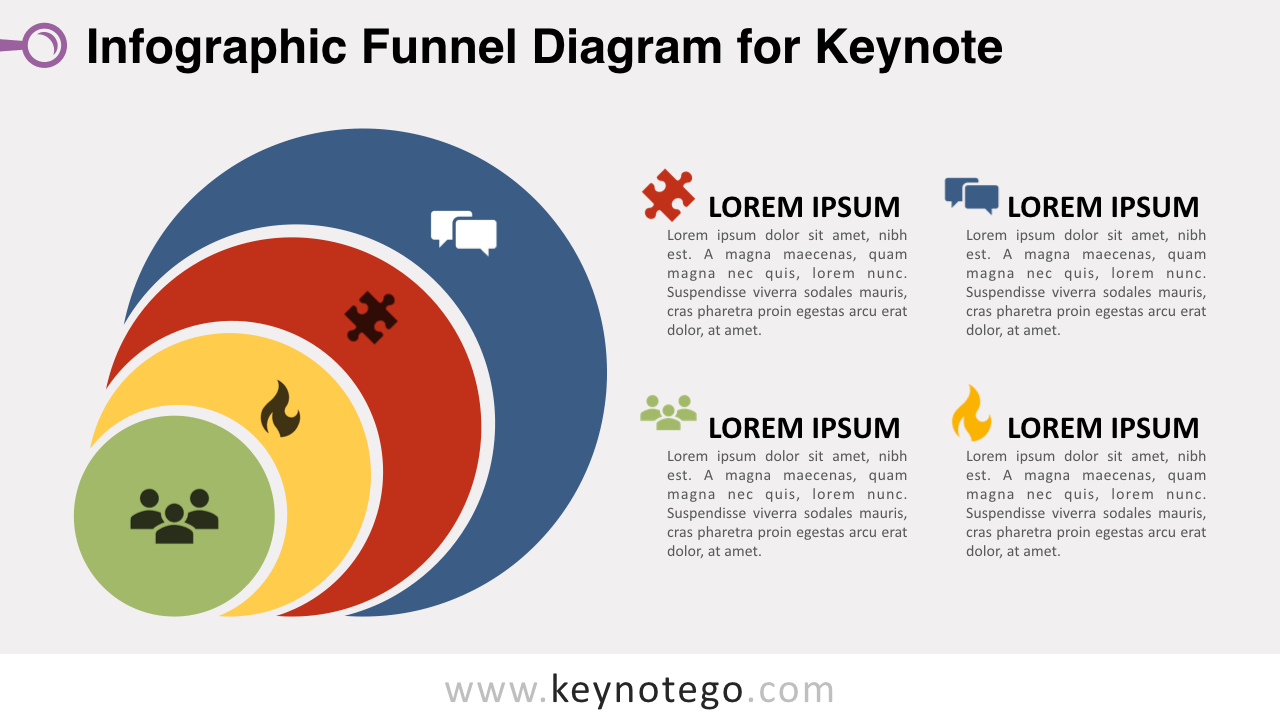 hight resolution of infographic funnel keynote template