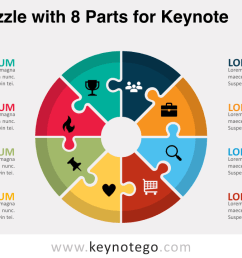 cycle puzzle 8 parts keynote template [ 1280 x 720 Pixel ]