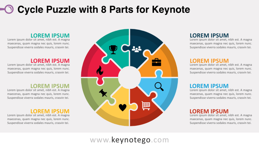 medium resolution of cycle puzzle 8 parts keynote template