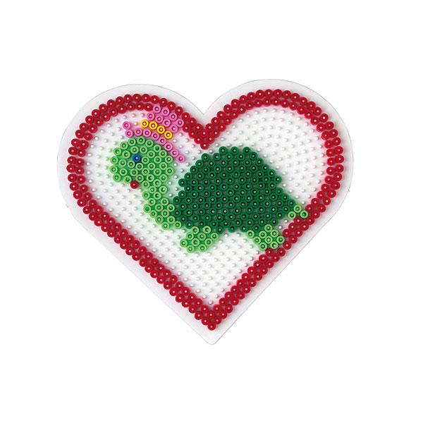Plaque Pour Perles Repasser Coeur Grand Modle Hama