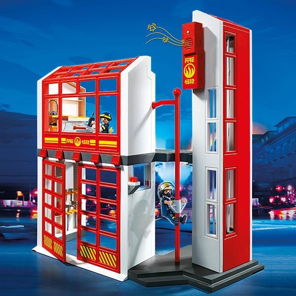 5361 Caserne De Pompiers Avec Alarme Playmobil Pompiers