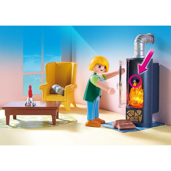 5308 Salon Avec Pole Bois Playmobil Dollhouse