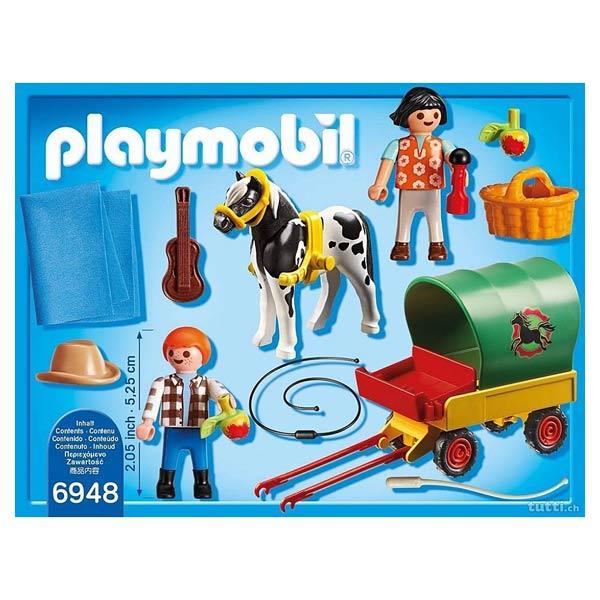 6948 Enfants Avec Chariot Et Poneys Playmobil Country