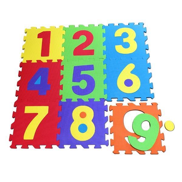 dalles mousse chiffres 9 pieces