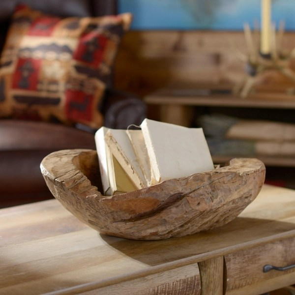 teak wood decorative bowl