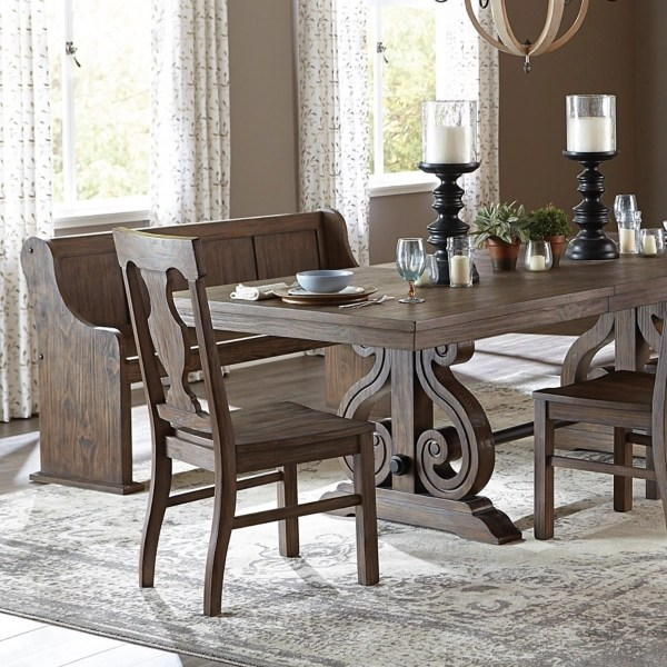 distressed rustic pine dining chairs set of 2
