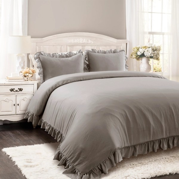 gray riley 3 pc king comforter set