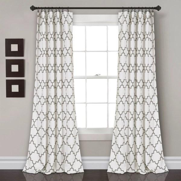 gray bella curtain panel set 84 in